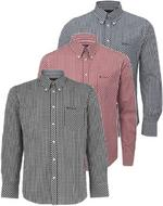 Mens Ben Sherman Shirt 'WiltShire' Long Sleeve Gingham Check