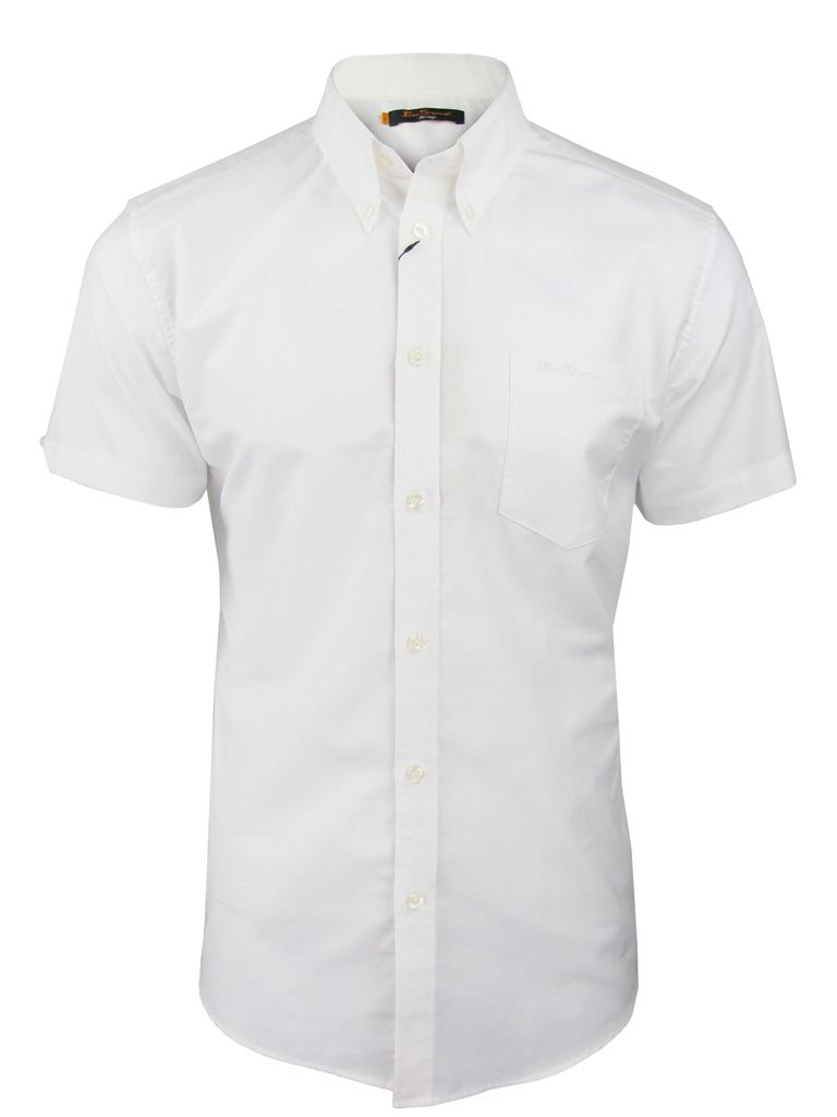 Mens Ben Sherman Classic 'Eton' Oxford Shirt Plain Short Sleeves ...