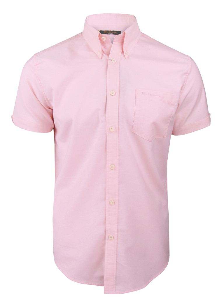 Mens Pink Button Down Shirt - Greek T Shirts
