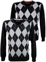 Mens Ben Sherman Heritage V Neck Argyle Jumper 'Haddington'