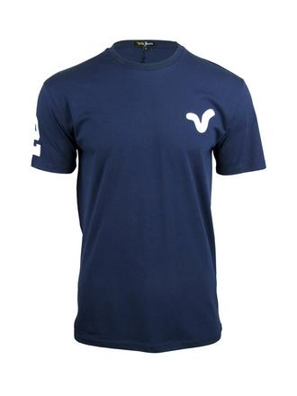 Mens Voi Jeans S/S T-Shirt 'Wynd' Navy, Number 2 on Sleeve Preview