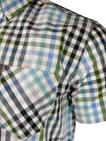 Mens Ben Sherman Shirt S/S Multi Gingham Check Antique Olive Or Blaze Blue Thumbnail 3