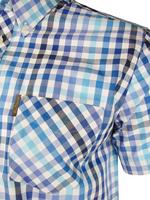 Mens Ben Sherman Shirt S/S Multi Gingham Check Antique Olive Or Blaze Blue Thumbnail 5
