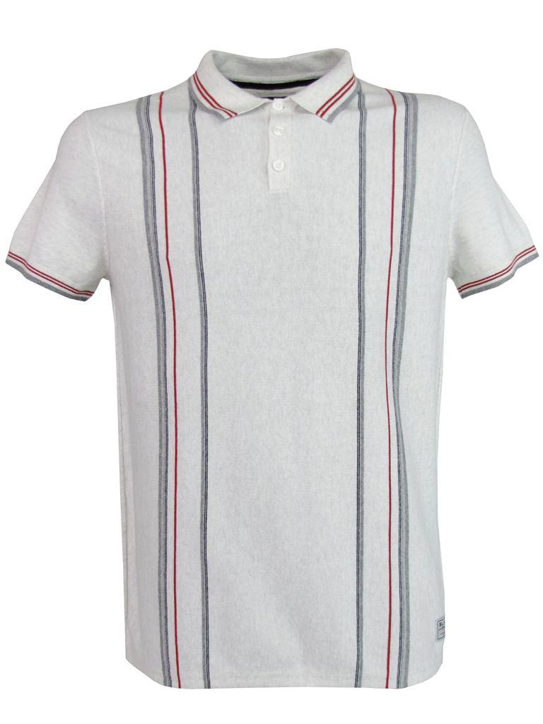 Mens Ben Sherman Polo T Shirt Vertical Stripe Parchment | eBay