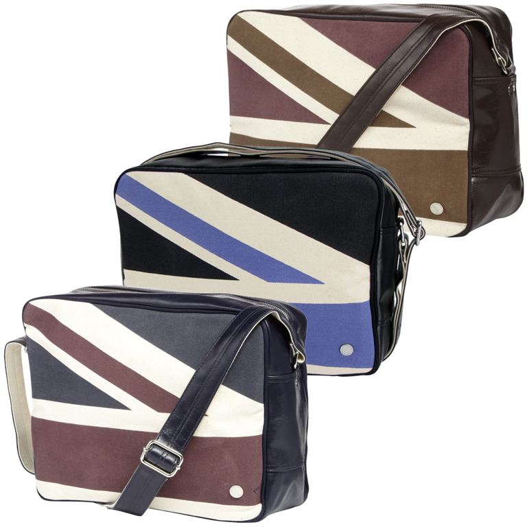 Mens Ben Sherman Flight Record Bag Union Jack Print Enlarged Preview