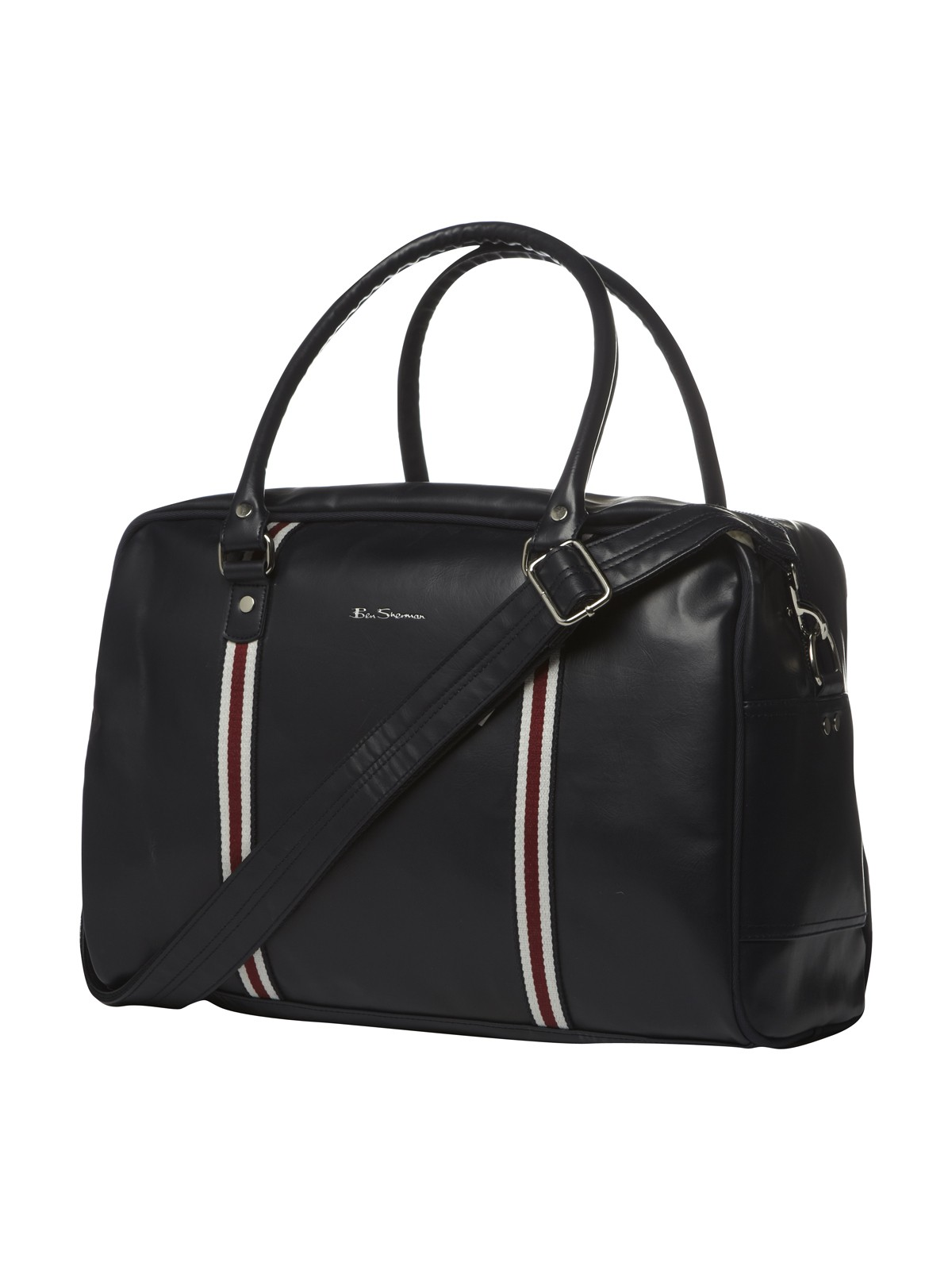 Mens-Ben-Sherman-Iconic-Holdall-Bag-Webbing-Trim