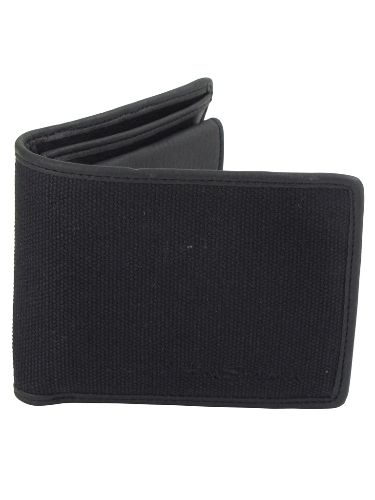 Mens Ben Sherman Wallet Canvas & PU Black Enlarged Preview