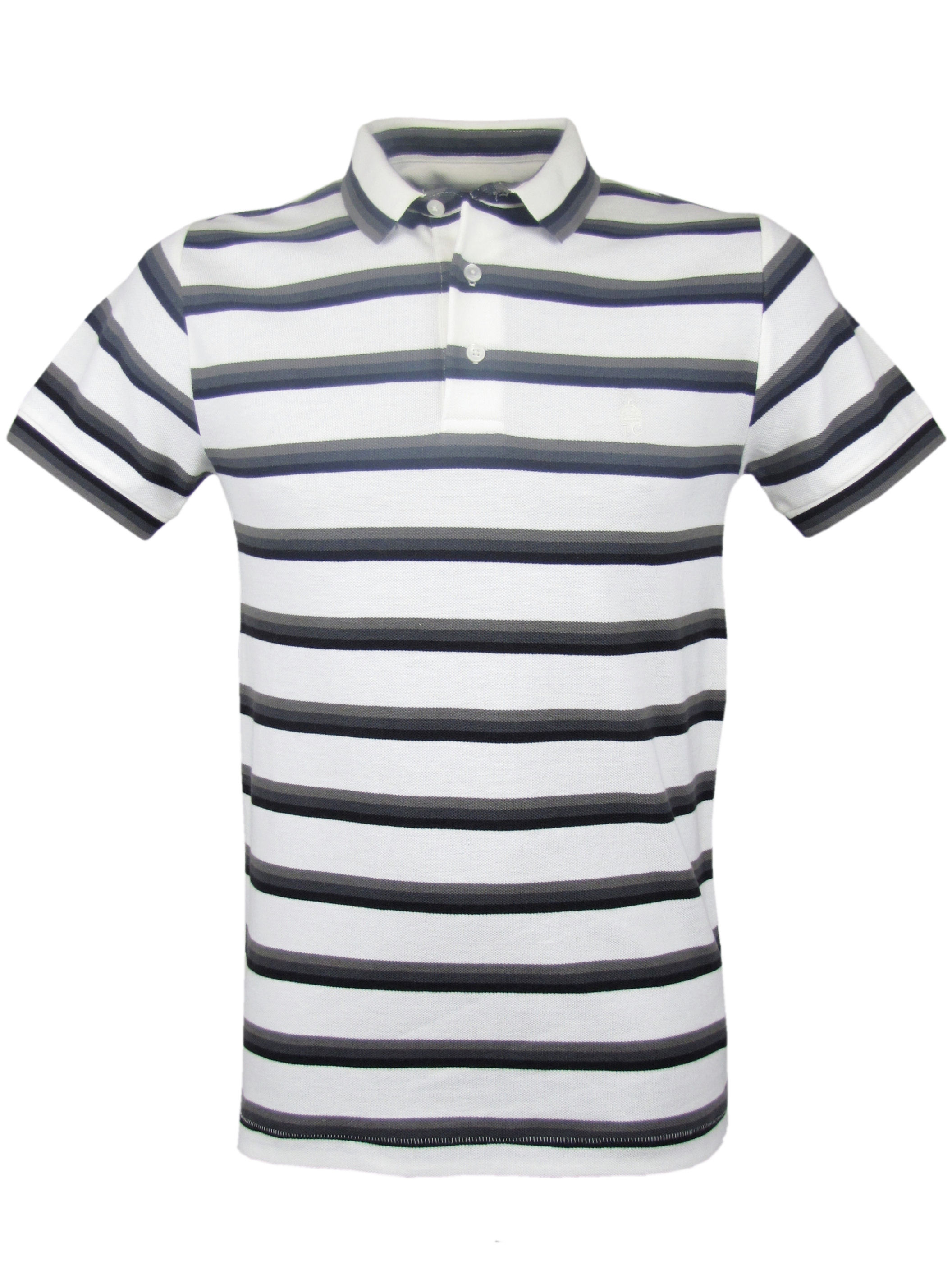 mens french connection fcuk blue striped polo t shirt ebay. Black Bedroom Furniture Sets. Home Design Ideas