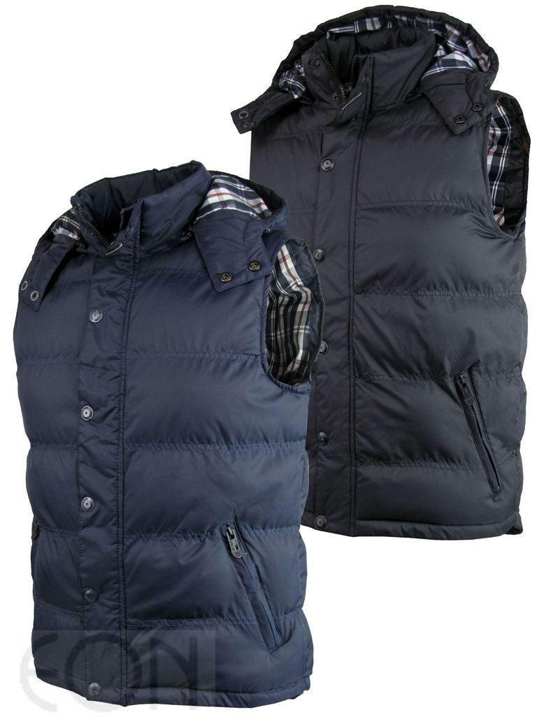 mens brave soul gilet body warmer hoodie jacket coat ebay. Black Bedroom Furniture Sets. Home Design Ideas