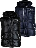Nickelson Mens Winter Hoodie Gilet/ Body Warmer Black or Navy