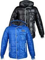 Nickelson Mens Winter Wetlook Winter Hoodie Puffer Jacket Coat
