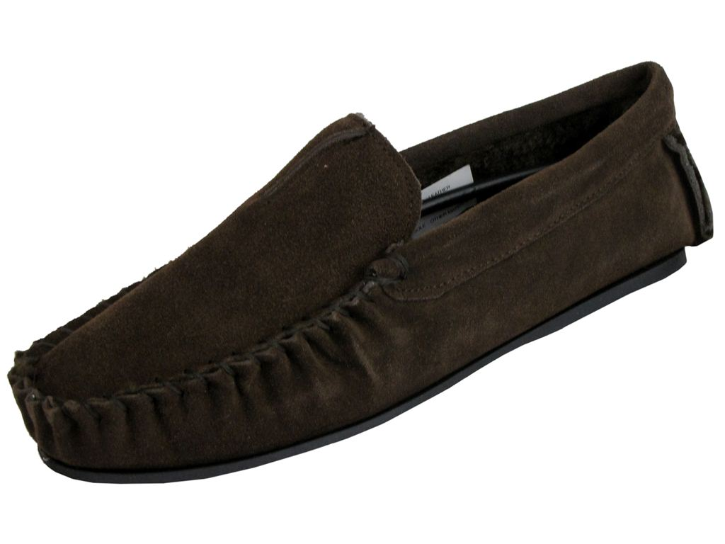 Mens Bedroom Slippers Leather Mens Dunlop Moccasin Premium Collection Logan Slippers