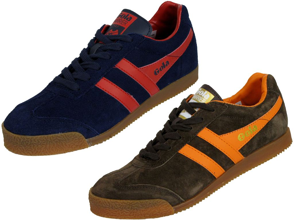 Mens Gola Classic Trainer The Original 'Harrier' Style Shoe Navy Or Brown Enlarged Preview