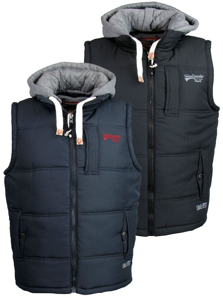 mens tokyo laundry gilet body warmer hoodie jacket coat. Black Bedroom Furniture Sets. Home Design Ideas