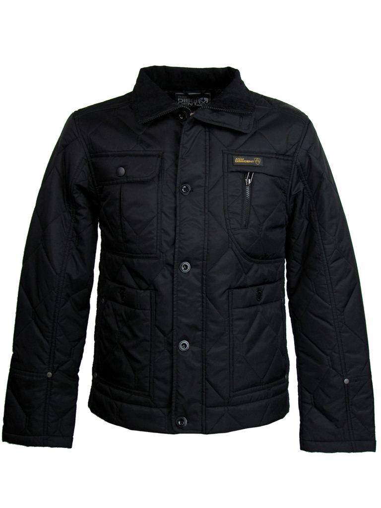 Mens Dissident Quilted 039 Newark 039 Hunter Style Military Jacket Coat Black | EBay