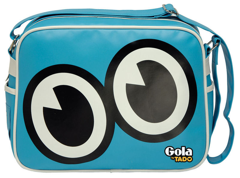 Gola By Tado Seymour Redford Messenger Record Bag Retro Sky Blue Enlarged Preview