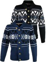 Mens Tokyo Laundry Fair Isle 'SnowMass' Button Cardigan Jumper