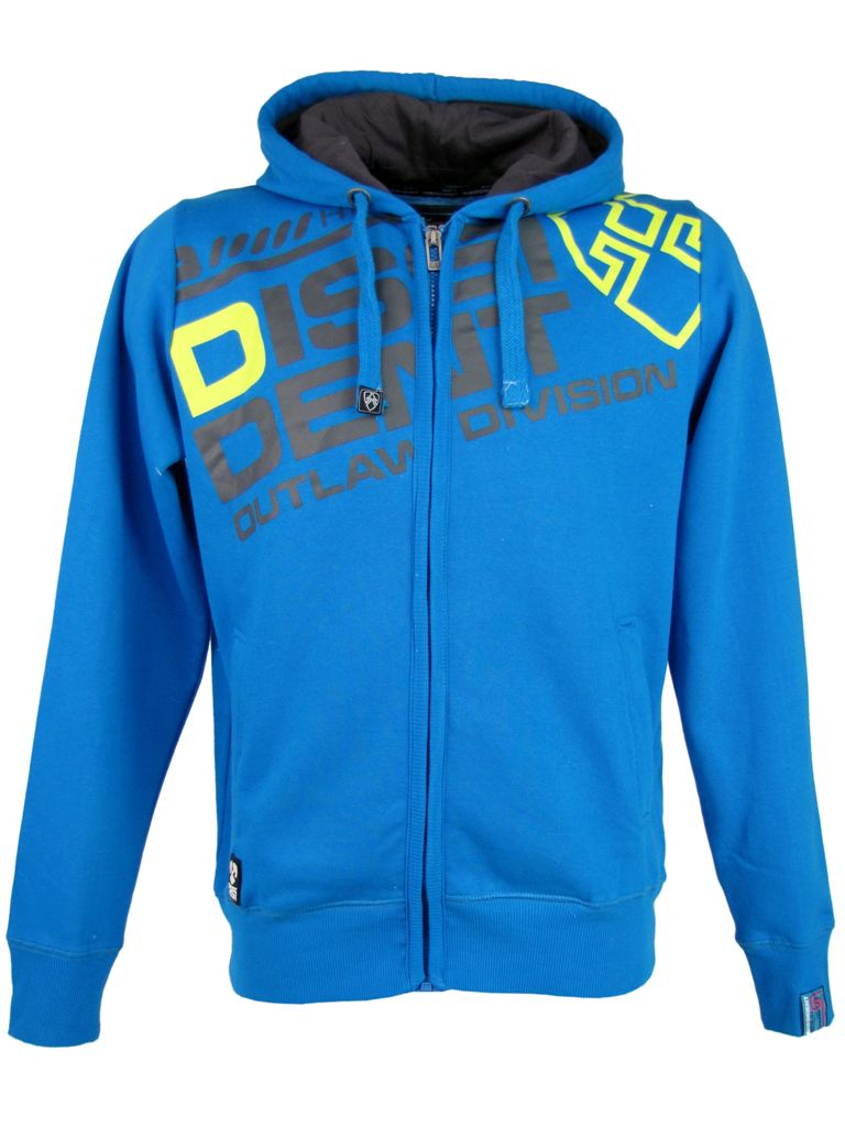 Mens-Dissident-Hoodies-DD-039-Enfilade-039-Full-Zipped-Cotton-White-Blue-Or-Grey