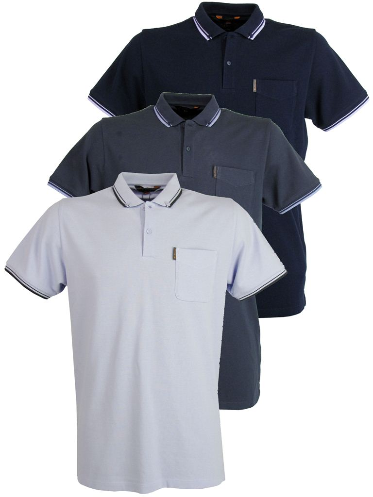 Mens ben sherman pique polo t shirt twin tipped button for Button down collar golf shirt