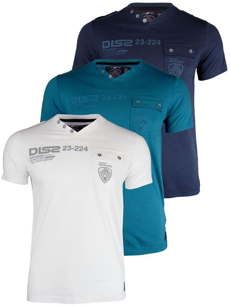 Mens Dissident V Neck Top T Shirts Short Sleeve 39 Columbia