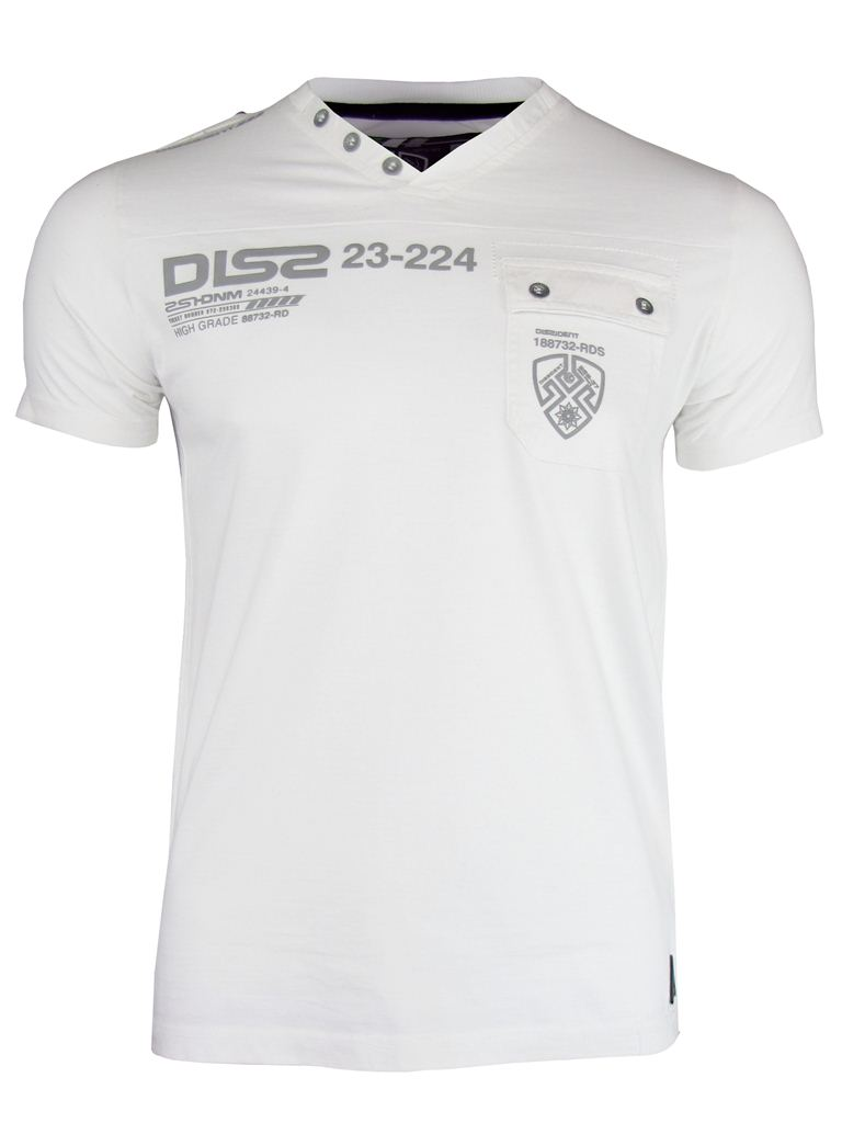 Mens-Dissident-V-Neck-Top-T-Shirts-Short-Sleeve-039-Columbia-039-Jersey