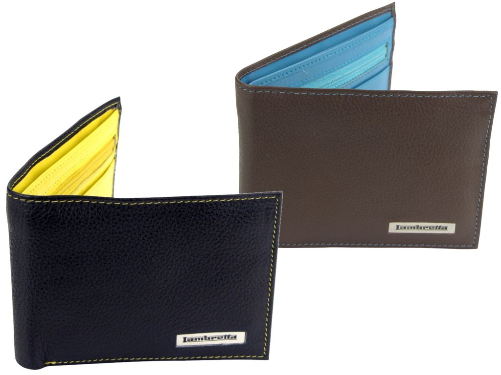 Mens Lambretta Leather Retro Contrast Wallet - Gift Boxed Enlarged Preview