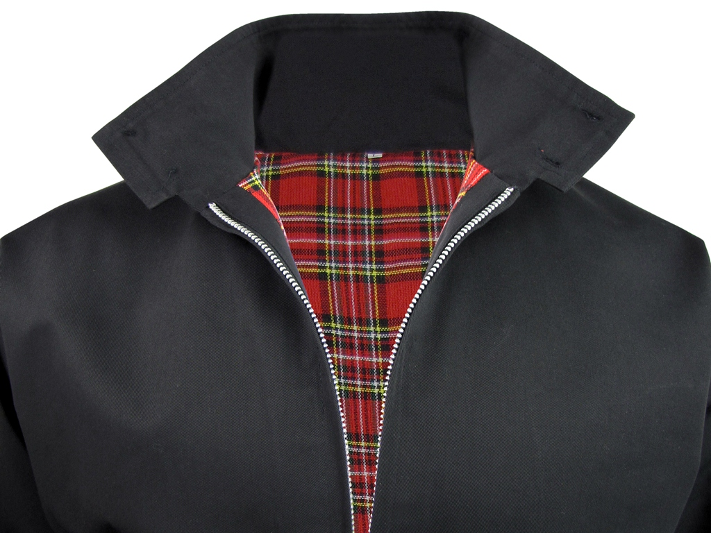 Mens-Relco-Classic-Harrington-Jacket-Coat-Mod-Tartan-Check-Lining