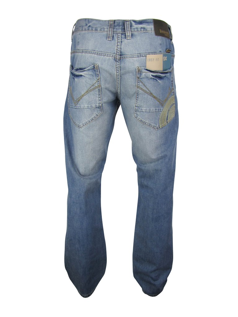 Mens-Lambretta-Denim-Jeans-Mod-Retro-Target-Vintage-Stone-Wash