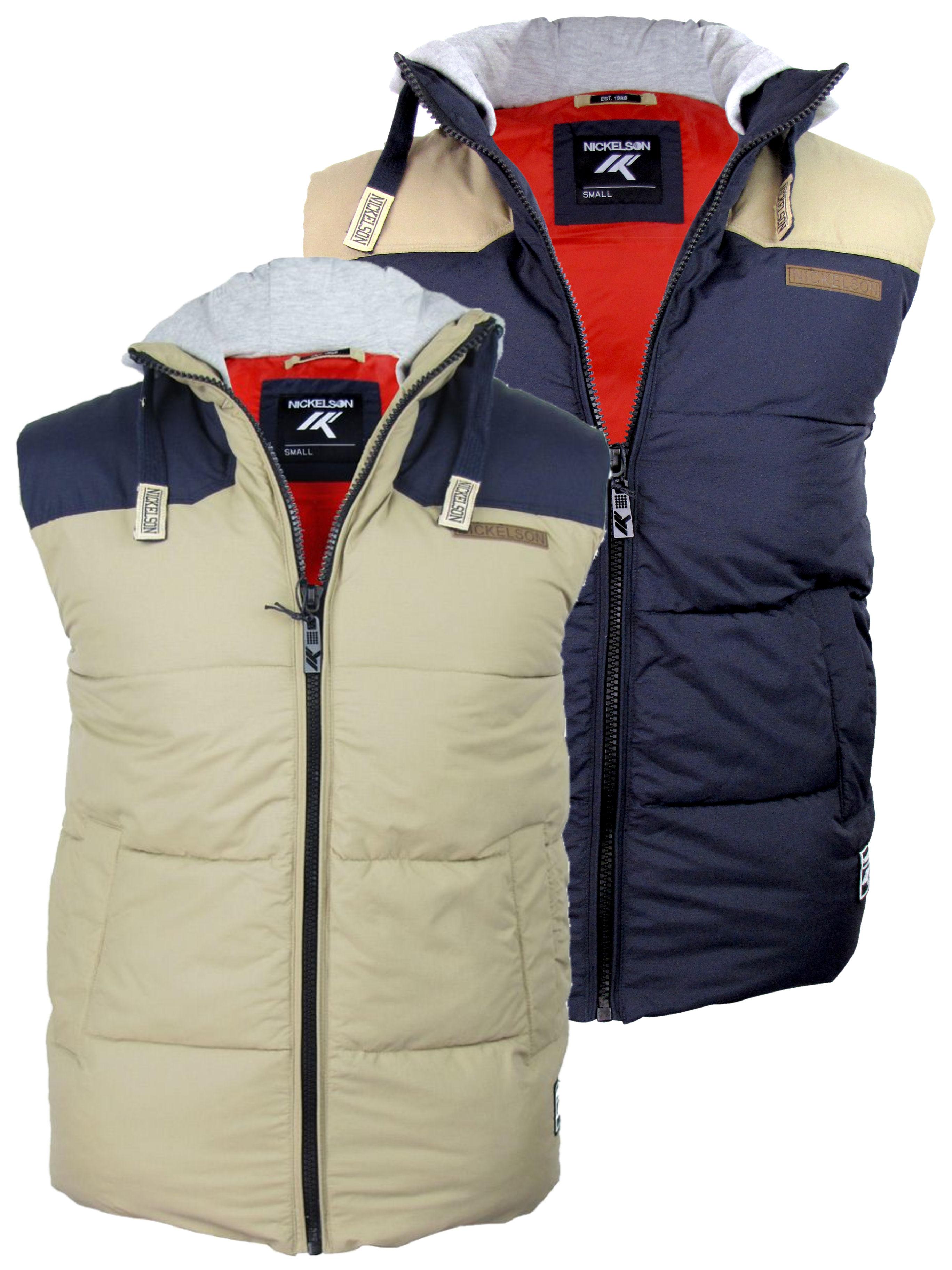 nickelson mens hoodie ripstop gilet body warmer navy ebay. Black Bedroom Furniture Sets. Home Design Ideas