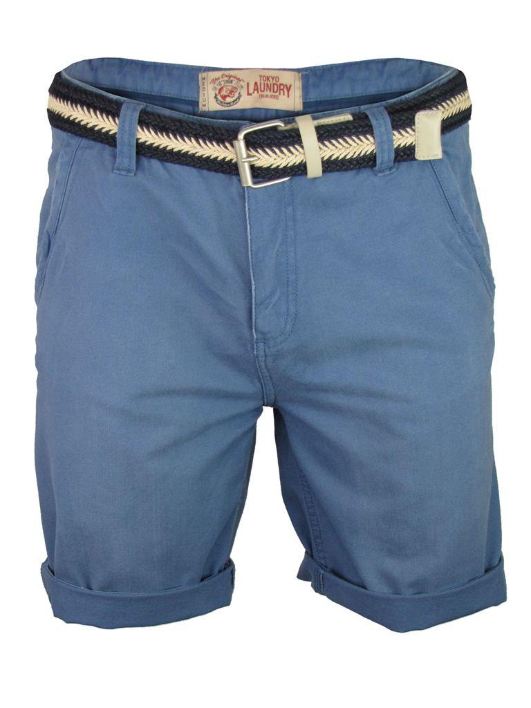Mens-Tokyo-Laundry-Cotton-Twill-Chino-Shorts-Courtesan-Free-Woven-Belt