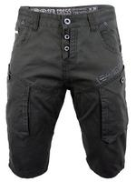 Mens Chino Cargo Shorts Crosshatch 'Rave' Retro Slate, Tobacco or Stone Thumbnail 2
