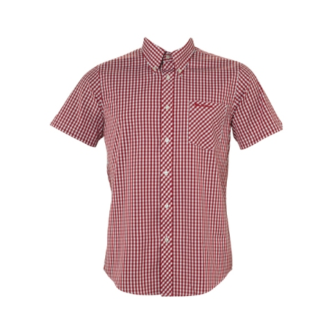 Mens-Ben-Sherman-Shirt-WiltShire-Short-Sleeve-Gingham-Check