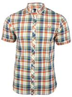 Mens Fred Perry Slim Fit Summer Madras Short Sleeved Shirt