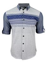 Mens Criminal Damage 'Nordic' Long Sleeve Shirt
