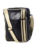 Mens Ben Sherman Flight/ Shoulder Bag Iconic Style Black