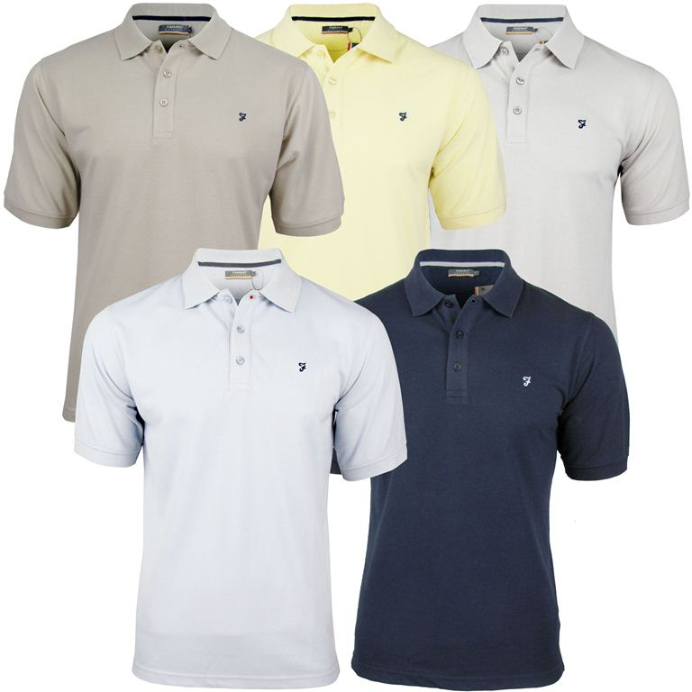 Farah Classic Mens Pique 'Weekend' Polo T-Shirt Short Sleeved Enlarged Preview