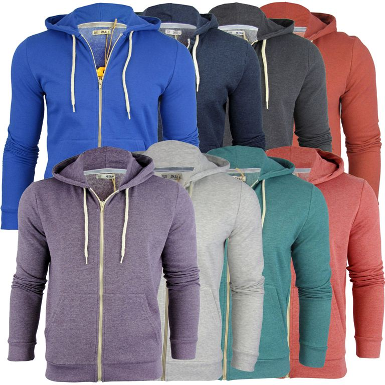 Brave Soul Mens Hoodie/ Hooded Zip Jumper/ Sweatshirt 'Adrian'