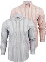 Mens Ben Sherman End on End Stripe Long Sleeved Shirt