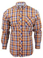 Mens Ben Sherman Mod Fit Checked Long Sleeved Shirt