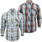 Mens Ben Sherman Fancy Gingham Checked Long Sleeved Shirt
