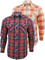 Mens Ben Sherman 50's Laundered Western Checked Long Sleeved Shirt