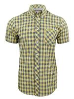 Mens Ben Sherman Shirt Short Sleeved Mod Check