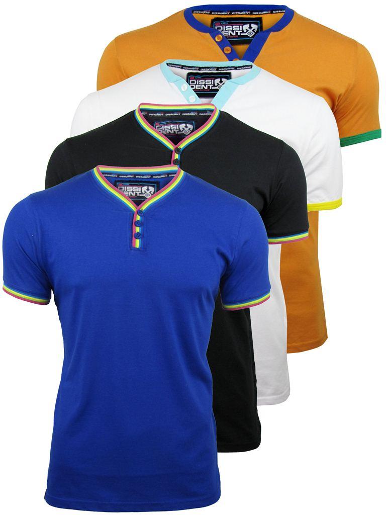 Mens-Dissident-Retro-T-Shirts-Short-Sleeved-4-Pack