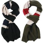 Ben Sherman Mens Block Stripe Lambswool Scarf