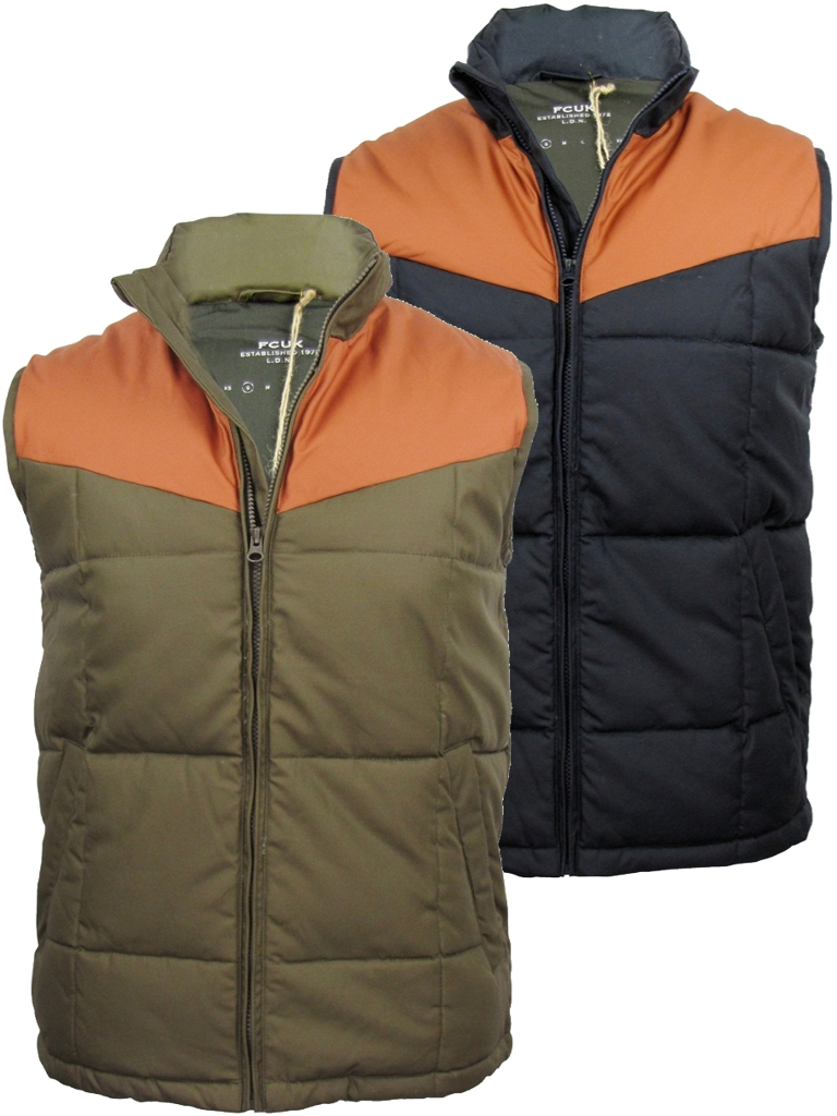 FCUK French Connection Winter Gilet Body Warmer Enlarged Preview