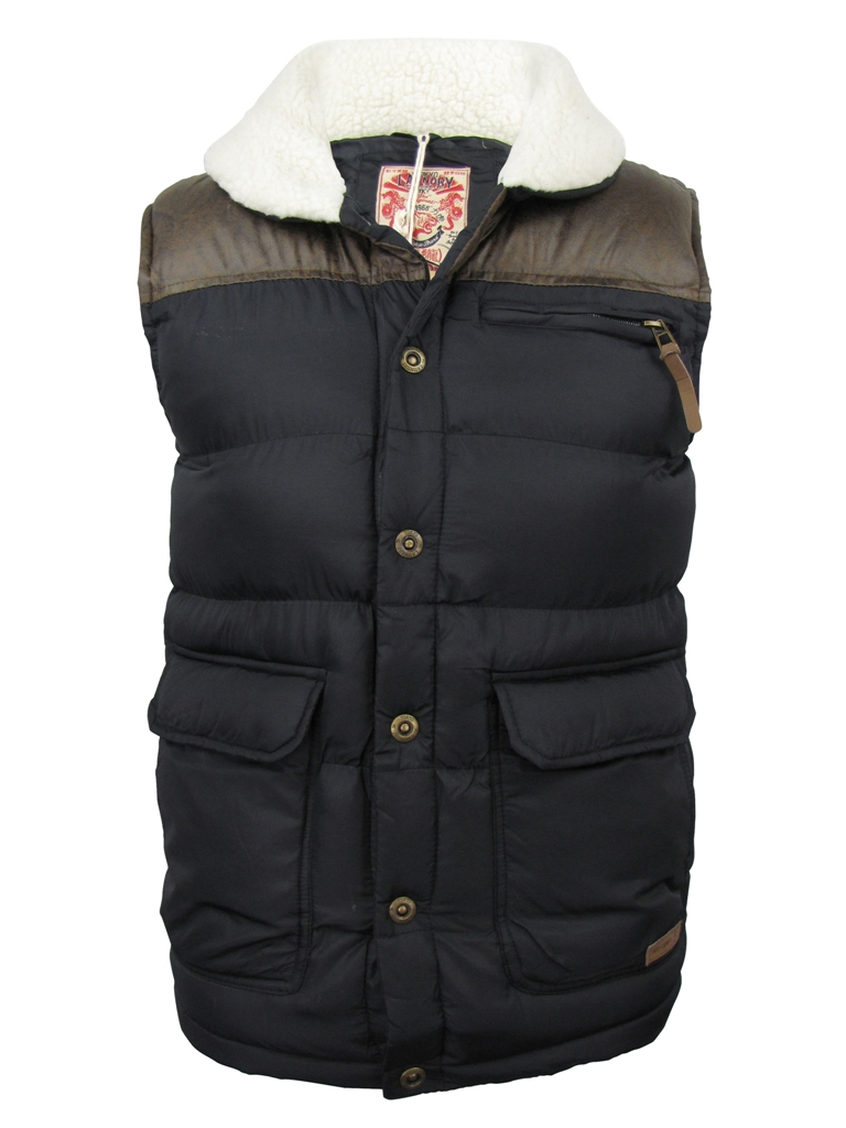 mens tokyo laundry gilet body warmer 39 frontage 39 jacket coat. Black Bedroom Furniture Sets. Home Design Ideas