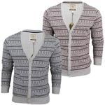 Mens Brave Soul Aztec Nordic' Knit Cardigan/ Jumper Button Up