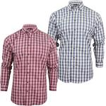 Mens Farah Classic Check Shirt 'The Cranleigh' Long Sleeves