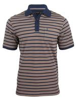 Mens Farah Classic Stripe Pique Polo T-Shirt Cotton Rich Short Sleeved