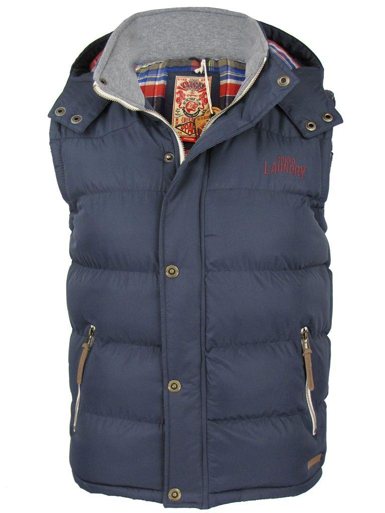 tokyo laundry mens gilet body warmer hoodie jacket coat. Black Bedroom Furniture Sets. Home Design Ideas